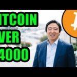 Presidential Candidate Andrew Yang Supports Bitcoin! #YangGang Bitcoin Over $4000! + Other News!
