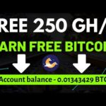 New Free Bitcoin Cloud Mining Site 2019 | 250 GH/S Free Signup Bonus | New Free Mining Site 2019