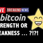 Bitcoin PRICE = STRENGTH OR WEAKNESS?! – LIVE Crypto Trading Analysis & BTC Cryptocurrency News 2019