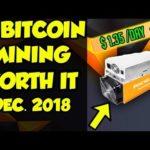 Is Bitcoin (BTC) mining worth it Dec. 2018? BTC mining ASICs