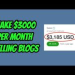 How To Make $3000 Per Month Selling Blogs (Make Money Online) 💸