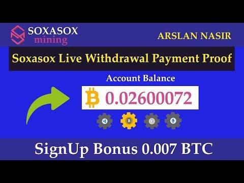 Soxasox Mining Limited Free Bitcoin Cloud MIning Site Legit Or Scam Live Payment Proof Urdu Hindi