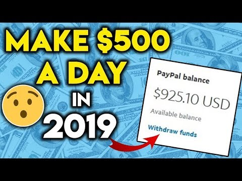 How To Make Money Online 2019! ($300-$500 A Day!)
