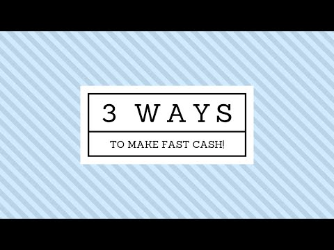 3 FAST Ways to Make Money Online