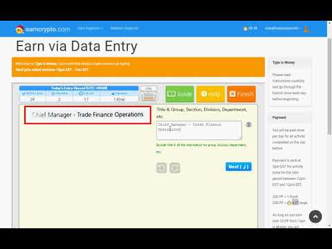 Data entry typing job and Payment proof 370795 Dogecoins of interest 0.10% Daily and Free Coins