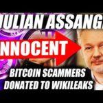 WIKILEAKS & JULIAN ASSANGE Donated Bitcoin By SCAMMERS?! JULIAN ASSANGE IS INNOCENT!
