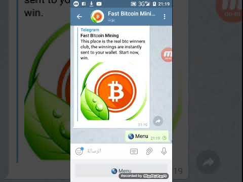 Best New Bitcoin mining bot telgram 2019 Get free bitcoin