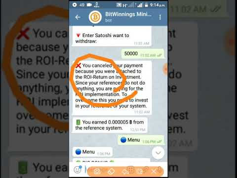 Telegram Bitcoin mining bot Fake Refer payment problem solve with earn buzz