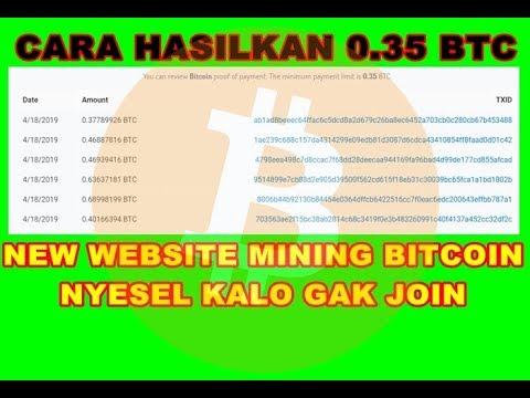 NEW WEBSITE MINING FREE BITCOIN.. BISA WD TANPA DEPOSIT..