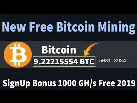 New Free Bitcoin Cloud Mining Site 2019 11000GH/s SignUp Bouns