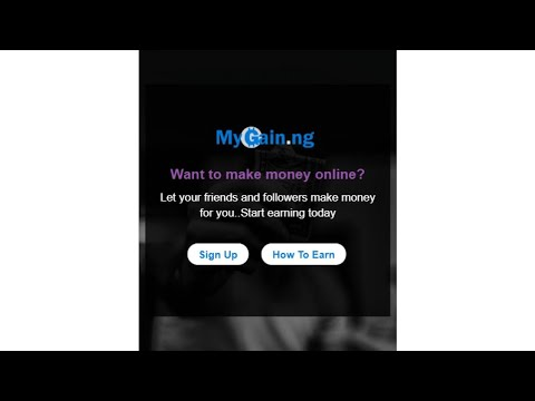Mygain.ng - How to make money online in Nigeria
