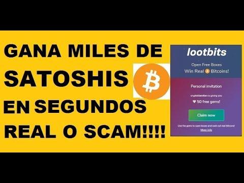 LOOTBITS GANA MILES DE SATOSHIS EN SEGUNDOS REAL O SCAM!!!!!