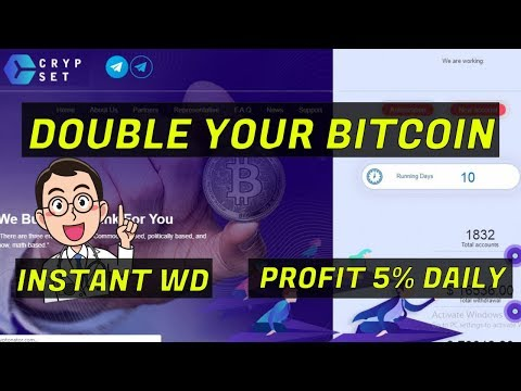 Crypset Review : Scam or Legit? Double Your Bitcoin