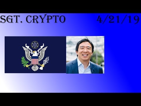 Mass Adoption is coming... Presidential Candidate Yang all in on Bitcoin/Crypto