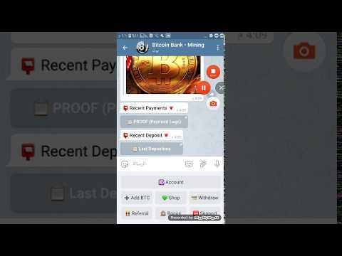 الربح والعمل من موقع Bitcoin Bank Mining Bot مضمون وفعال 100%