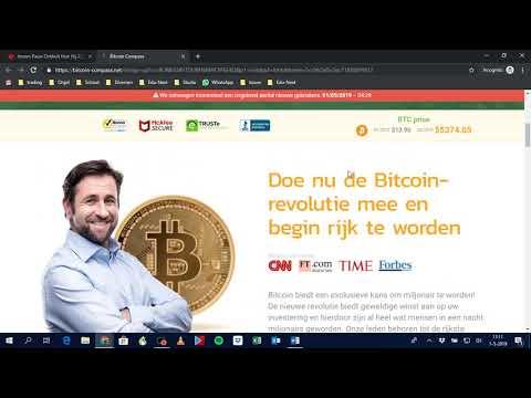Voorbeeld van scam: Bitcoin Compass