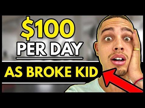 Make FREE Money Online As BROKE Kid - $100 Per Day