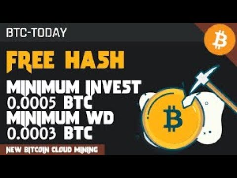 New Free Bitcoin Earning Site 2019  BTC TODAY   Best Cloud Mining Bitcoin   Free