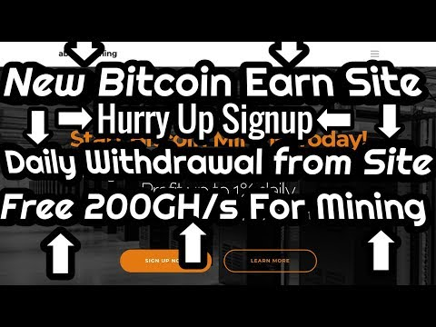 NEW FREE BITCOIN MINING SITE 2019 FREEBONUS200GH/S | Daily Withdrawal 20$ Re_INVESTMENT SITE 2019