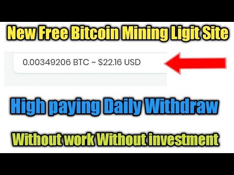 New Free Bitcoin mining Site Hight paying Amount // Daily withdraw / without invest