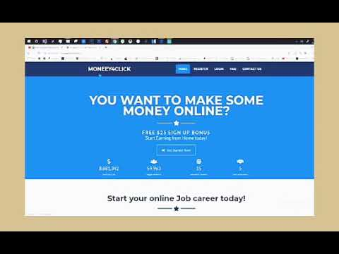 Make Money Online with Moneey4Click | 187536 | Instant payment via PayPal, Bitcoin etc