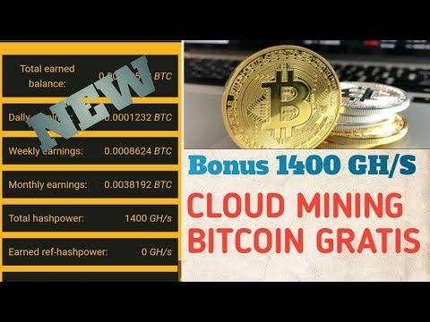 Bonus 1400GH/s | Situs cloud mining bitcoin gratis 2019 Tanpa deposit