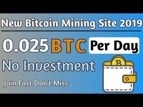 Earn 0.025 BTC Per Day | New Bitcoin Mining Site | Earn Bitcoin