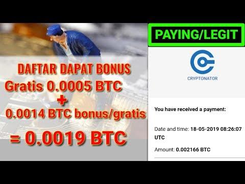MINING BITCOIN GRATIS 0.0005 BTC SAAT DAFTAR