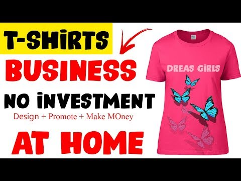 Make Money Online | T-Shirts Design & Sell Online | No Investment |50$ Daily Earn Urdu-Hindi 2019