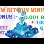 New BITCOIN CLOUD MINING 2019 | Free Bonus 0.001 BTC + 1000 Gh/s Power | No Investment