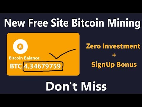 New Free Bitcoin Mining Website Sinup Bonus 1000gh/s Instant Totally Free Earn Bitcoin Everyday ?