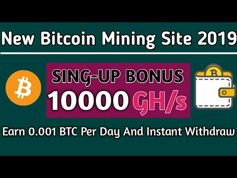 Earn Free  Bitcoin | 10000 GH/s Mining Power Free | New Bitcoin Mining Site
