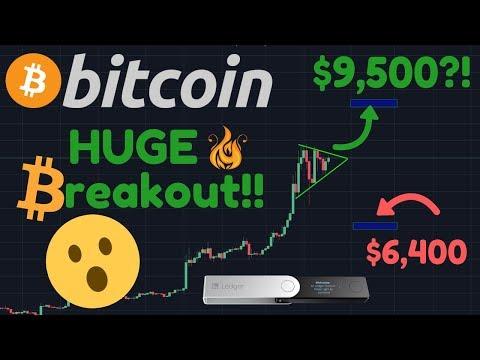 HUGE BITCOIN BREAKOUT TO $9,500 - $10,000?!? | Ledger Nano X | AT & T | Coinstar
