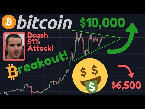 BITCOIN BREAKOUT IMMINENT!! | $10,000 Next? Or BTC Correction To $6,500?? | Bcash 51% Attacked!!!