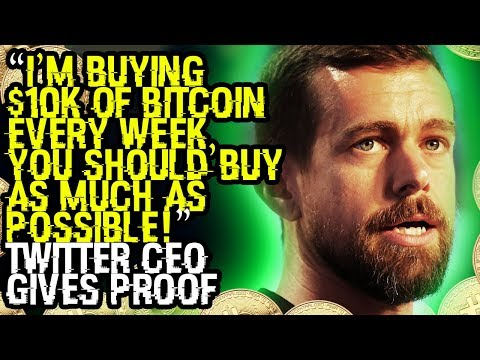 """""""I'M BUYING $10K Of BITCOIN EVERY WEEK, YOU SHOULD BUY AS MUCH AS POSSIBLE!"""" TWITTER CEO GIVES PROOF"""