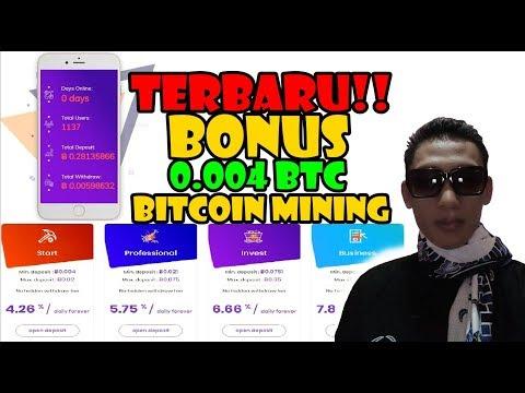 Gila!!! Big Bonus Up to 0.009 BTC  - Bitcoin mining terbaru 2019