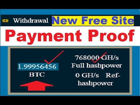 New Free Bitcoin Cloud Mining Site 2019 | 250GH/S Free | Payment Proof | New Bitcoin Mining Site