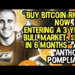 """BUY BITCOIN RIGHT NOW, IT'S ENTERING A 3 YEAR BULL MARKET, $55K IN 6 MONTHS"" ACE ANTHONY POMPLIANO"