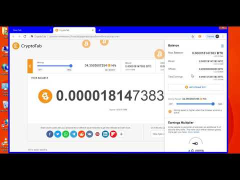 Free Bitcoin Mining Fastest Payment Proof | New BTC earning application | CrytoTab Browser in hindi