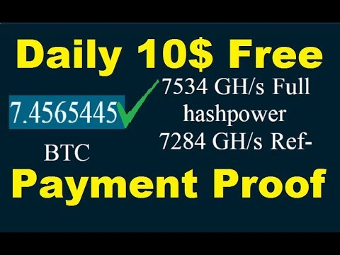 NEW FREE BITCOIN CLOUD MINING SITE 2019 | Live Payment Proof | New Free Bitcoin Mining Site