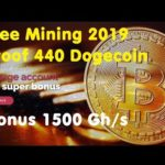 Free Mining 2019 | Proof 440 Dogecoin | Bonus 1500 Gh/s | Automated Miner | No investment