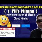 Daftar langsung dapat 0.001 BTC - Live WD ke 11  bitcoin mining terbukti membayar