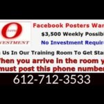 Call🔥 612-712-3533 🔥Make Money Online No Investment Facebook Posters Wanted $3,500 Weekly Possible