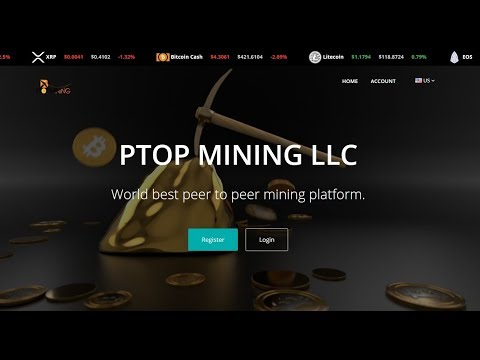 Start Earning Bitcoin now || PTOP MINING LLC | World best peer to peer mining platform