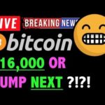 Bitcoin READY FOR $16,000 OR DUMP?! - LIVE Crypto Trading Analysis & BTC Cryptocurrency Price News