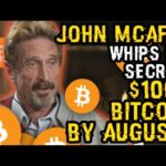 John Mcafee WHIPS Out A BITCOIN SECRET He's Been SAVING FOR A RAINY Day! This Shows $100K By AUGUST?