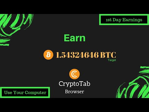 1st Day Bitcoin Mining with CryptoTab Browser | Free Bitcoin Mining Without Investment