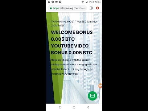 Earn Free Bitcoin| Welcome Bonus 0.005 BTC| New bitcoin Mining Site