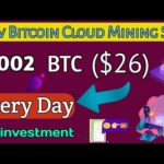 Earn 0.002 ($26) Bitcoin Every Day 🔥 | New Bitcoin cloud Mining Site Free 🤑 No investment