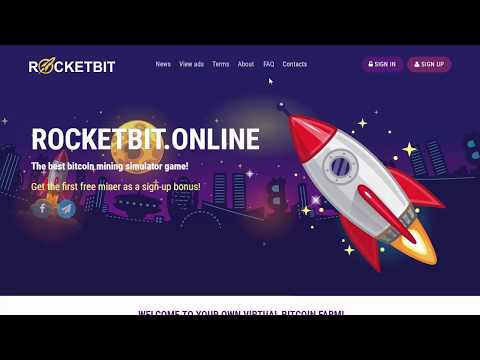 RocketBit bitcoin mining simulator game